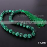 Allah misbaha 12mm 33pcs malachite gemstone beads prayer beads gemstone beads xm                                                                         Quality Choice
