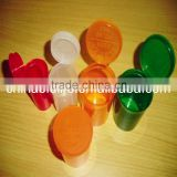 Plastic Hinged Vial Cone Tube Container,child resistant pop top vials