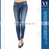 New Arrival 2014 Ladies Classic Low Waist Dark Blue Denim Stretch Fashion Skinny Jeans                                                                         Quality Choice