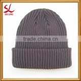 100% Cotton Knitted Beanie Hat Warm Winter Ski Cotton Crochet Cable Knit Beanie Beret Hat