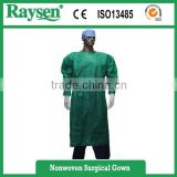 Disposable PP Nonwoven / SMS Blue Surgical Gown / Isolation Gown Patient