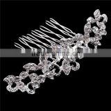 Beautiful Floral Wedding Tiara Sparkling Silver Plated Austrian Crystal Bridal Hair Combs Hair Jewelry Hair Accessories