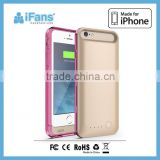 iFans brand new, durable and protective design plastic battery case for iPhone 6 6s with changeable bumpers