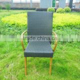 Italian design bamboo finishing rattan outdoor concert chair,Aluminium frame