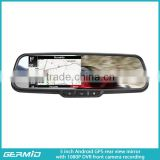 5 inch high definition DVR rear view mirror with Android google store and genuine bracket
