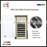 Private label real mink eyelash extensions/siberian mink lashes eyelash extensions wholesale