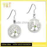 Jingli Jewelry factory Tree of Life Stainless Steel Earrings,Celtic Cross Tree of Life Dangle Earrings (YR-012)