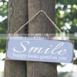 New pattern the decoration of wooden warning sign wholesale