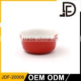 High quality cheap porcelain red noodle ceramic bowl wholesale for restaurant