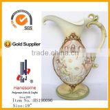 "19"" antique 3D last supper decorative flower vase"