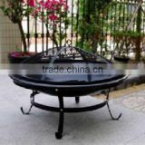 OUTDOOR FIREPIT 30INCH BLACK ENAMEL FINISH WITH POKER
