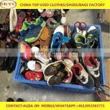 West Africa used shoes buyers Ghana second hand cream sorted mixed shoes in Dongguan used clothing and shoes warehouse