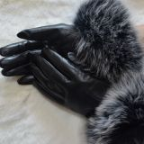 Sheepskin Glove with Fox Fur