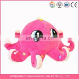 Custom stuffed sea animal pink octopus plush toy