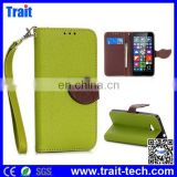 Wallet Style Magnetic Flip Stand TPU PU Leather Case for Microsoft Lumia 640 with A Strip