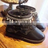 Inquiry about Aidocrystal soft sole last design home winter diamond bling lace decor snow boots women
