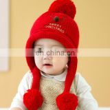 A034 Kid Girl Winter Lovely Earcuff Hat Toddler Girl boy Knit Hats Christmas deer baby hat