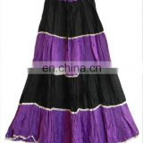 ladies cotton long skirts in different colors for party wear skirt tier skirt wholesale cotton skirt