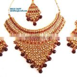 Wholesale indian Exclusive kundan polki Bridal set -Bridal jewellery set -Bridal wear-wedding wear Jewellery