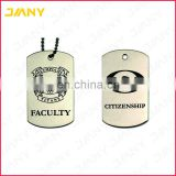 Personalized Men's Polished Stainless Steel Army Style Dog Tag Name Pendant