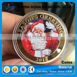 Metal commemorative coin Christmas coin Santa Claus reindeer souvenirs December gift Christmas Day