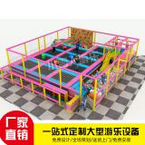 Combination trampoline Gym equipment Trampoline sticky music Velcro Dry snow slide