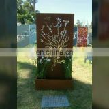 Outdoor decorative corten steel garden furniture