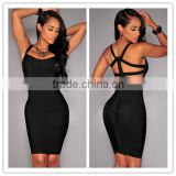 Hot Selling Hot Selling 2015 Sey V Neck Backless Bodycon Bandage Dress New Arrival Ladies Girls Knitted Elastic Elegant Designer