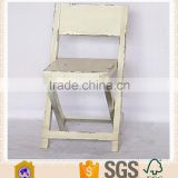 Handmade Antique White Wooden Folding Chair / Dining Chair Foldable                                                                         Quality Choice