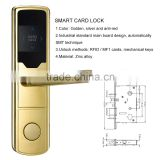2015 New golden electronic security hotel smart commercial door lock