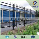 "Plastic spraying 48"" High 2 Rail Picket Top wrought iron fence"