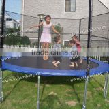 14ft top sale safety children gymnastic interesting trampoline with safety net