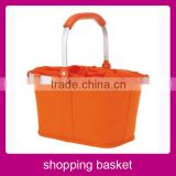 2014 wholesale folding plastic shopping basket