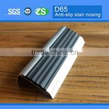 Outdoor Aluminum Stair Nosing with rubber anti-slip strip