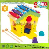 OEM/ODM Approved High Quality Xylophone Toys House Multi-functional Wood Music Toy                                                                         Quality Choice
