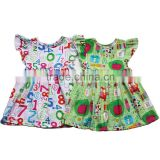 Nice baby girl dress fashion cotton children back to school dress baby girl sommer dress