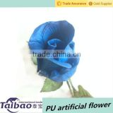 2015 latest PU material artificial blue rose flower bud