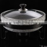 Granite stone steam cooker pot with frame cookware pan