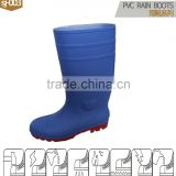 good quality PVC safety rain boots in good price/blue rain boot