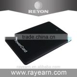 REYON Hot selling credit card power bank, built in cable power bank, ultra slim power bank with full color customize printing