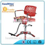 red old style salon barber chair hydraulic pump