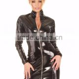 black long sleeve leather pvc dress latest pvc fashion dresses