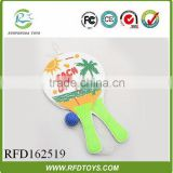 Wooden beach racket with ball,fashion beach racket for summer day,cheap racket toys