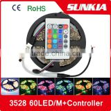 LED 12V Strip Light SMD 3528 300 leds Flexible Lamp RGB rf Controller led strip