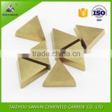 High efficient cemented tungsten carbide milling insert tips, TPKN carbide external turning inserts