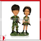 "MING PEOPLE custom 7"" couple cake topper with military uniform for home decor,personalized gift,wedding souvenir,bobblehead"
