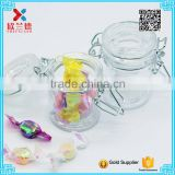 50ml High quality swing top glass food jar clip top glass jar