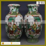 China beauty Zhaojun lady painting ming dynasty antique china ceramic vase for collection