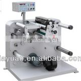 Automatic JFQ-320 Adhesive Tape / Label / Paper / PP / PVC/OPP/PET/PE / Foam / Fabric Roll Slitting Machine , CE Approved