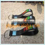 Custom Gay Pride rainbow Silicone Wristband Key Tag Ring holder                                                                         Quality Choice